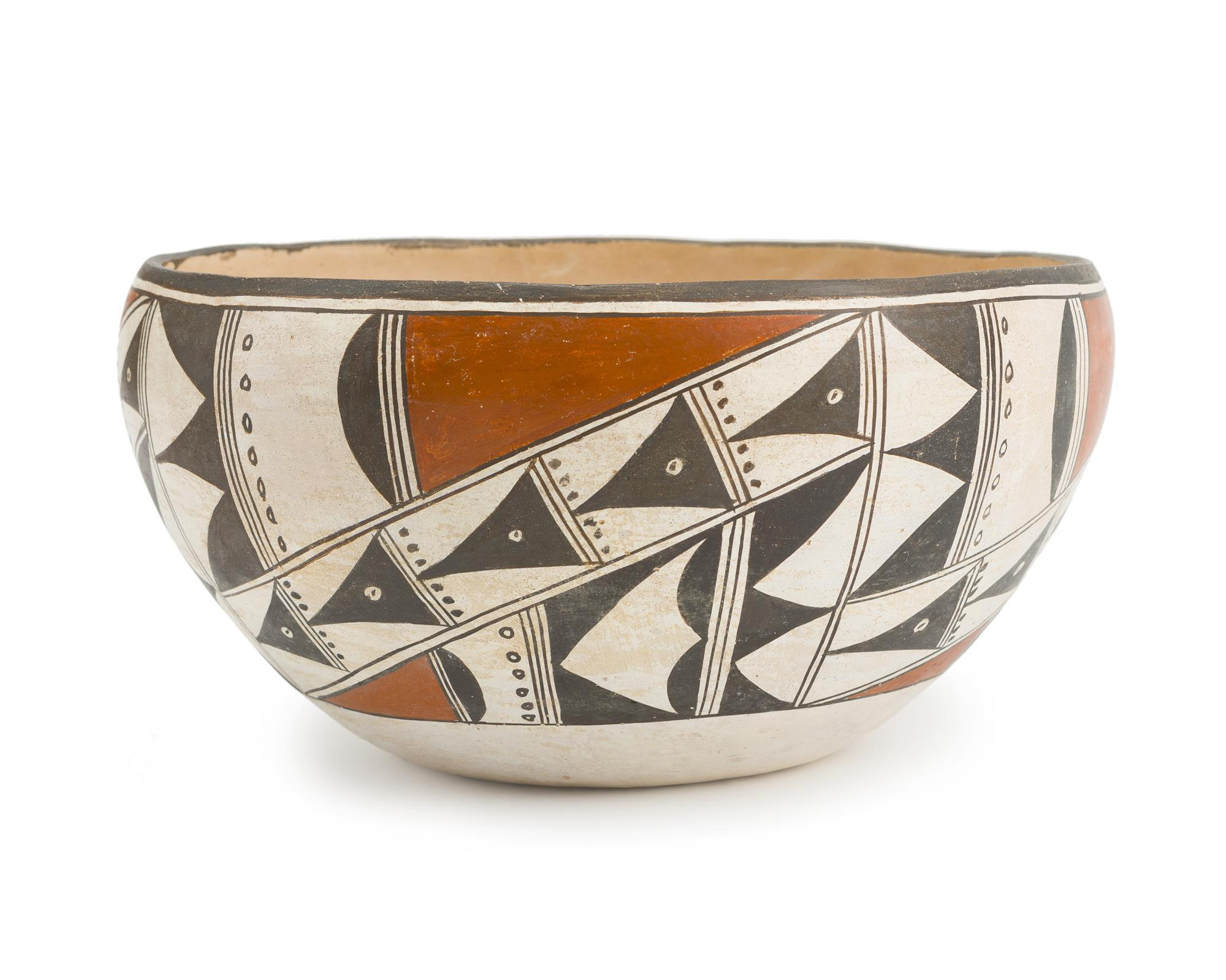 An Acoma polychrome small dough bowl