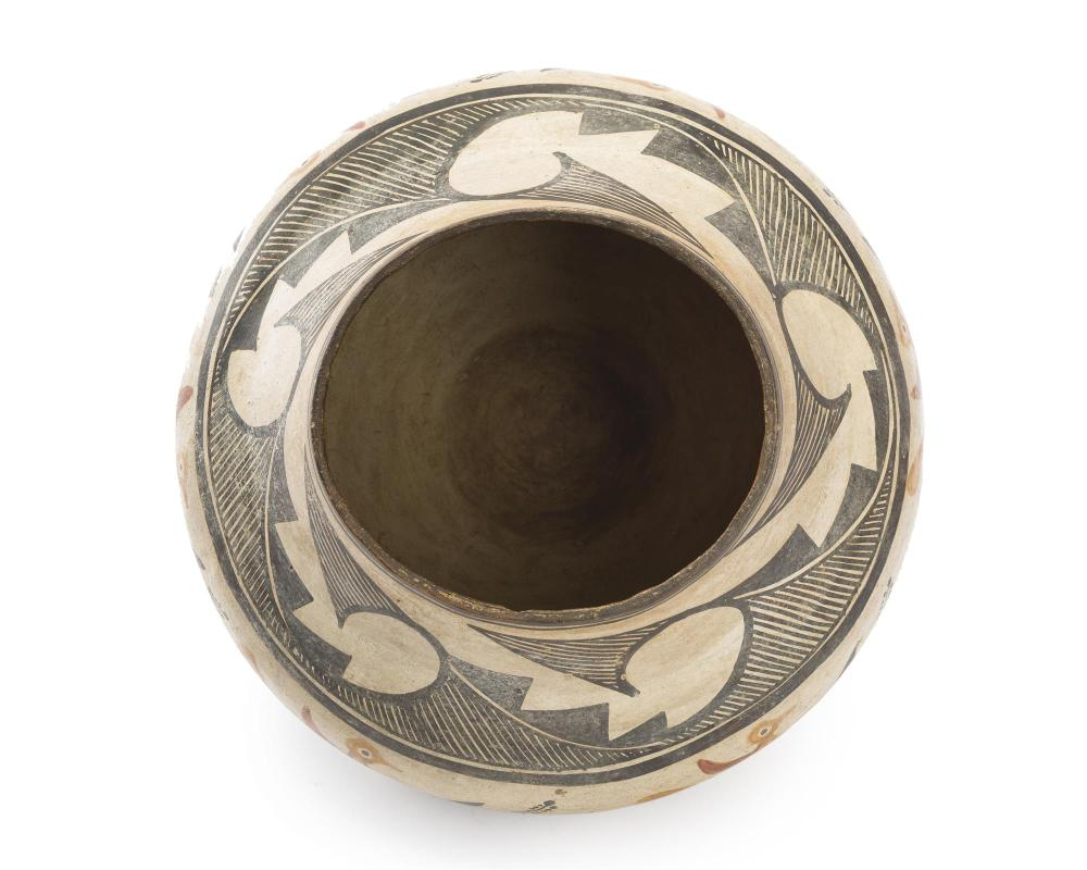 An Acoma four-color pottery olla