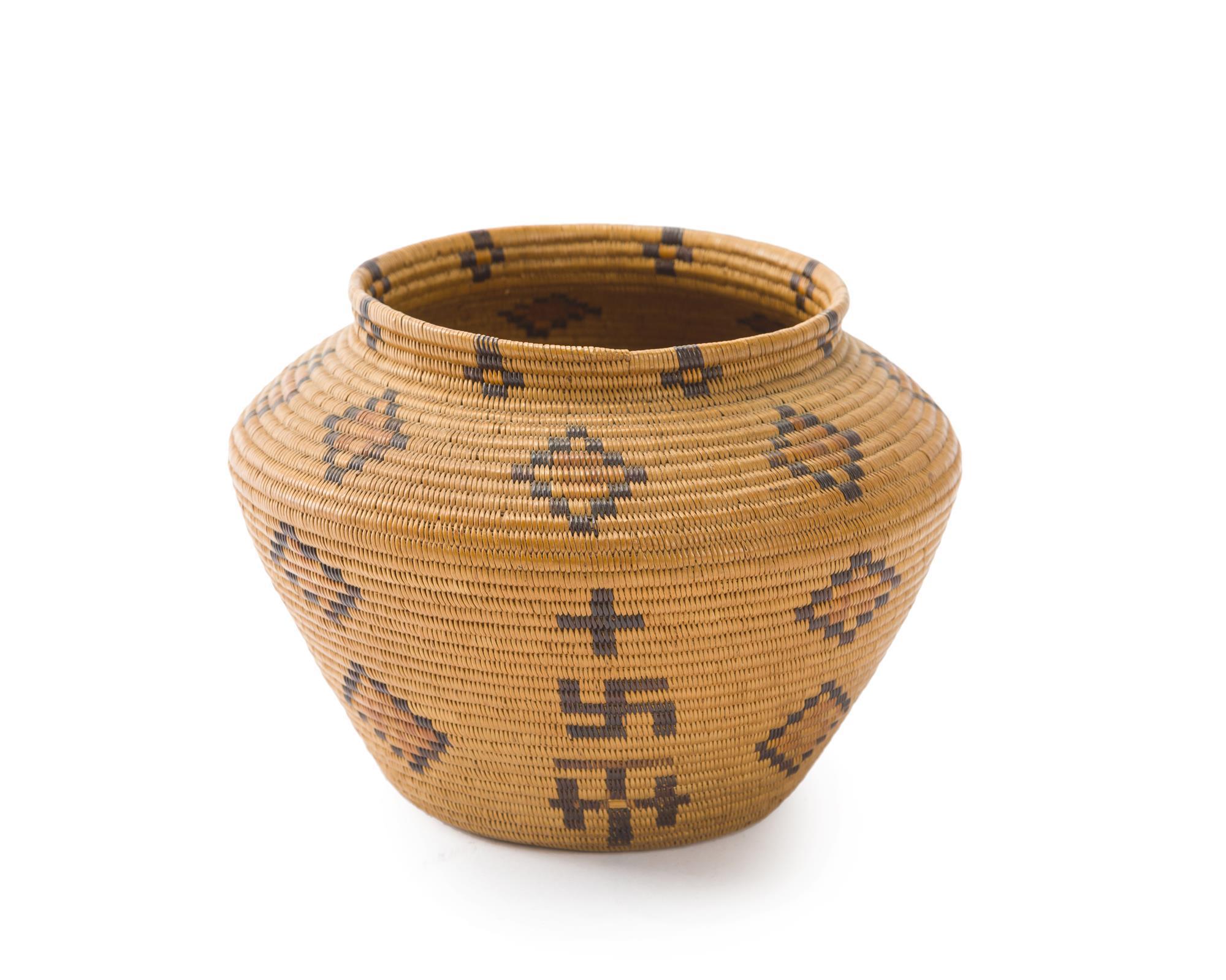 A polychrome Panamint basket