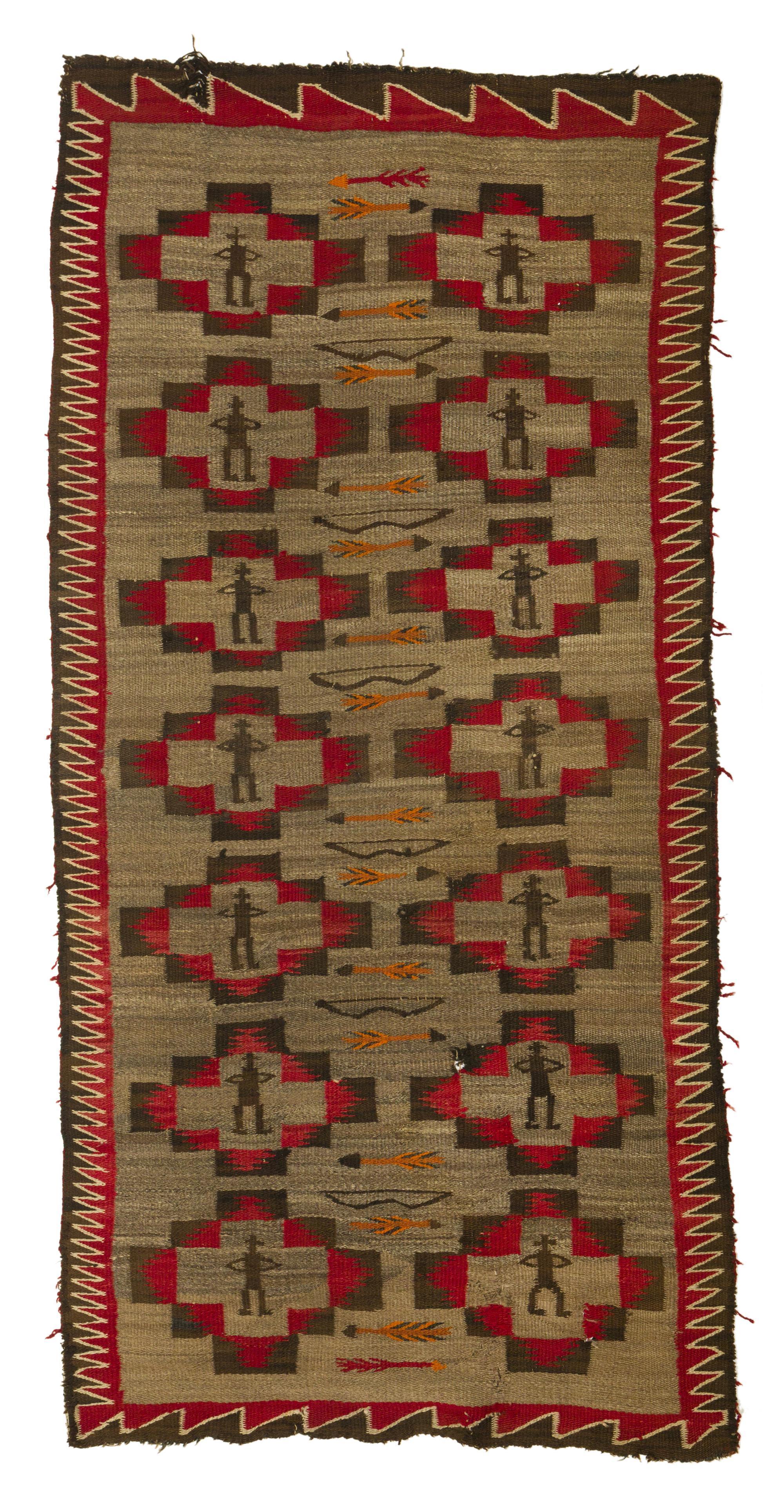 A Navajo Regional polychrome pictorial rug