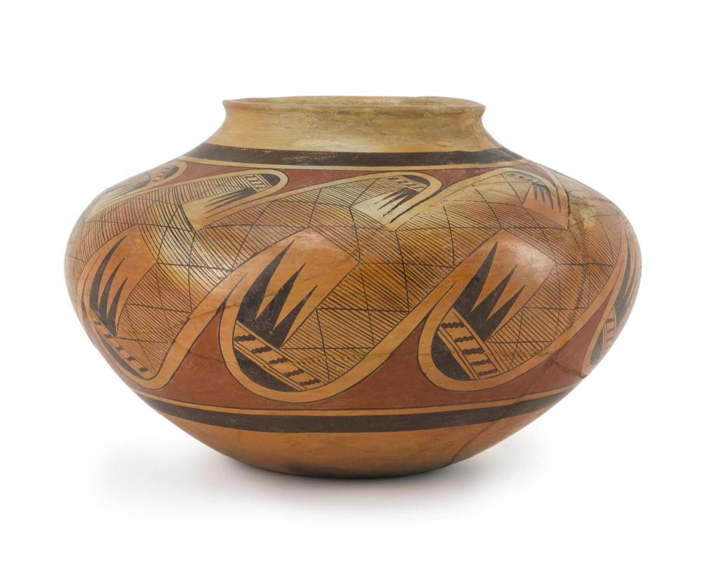 A Hopi polychrome pottery jar, Fannie Nampeyo