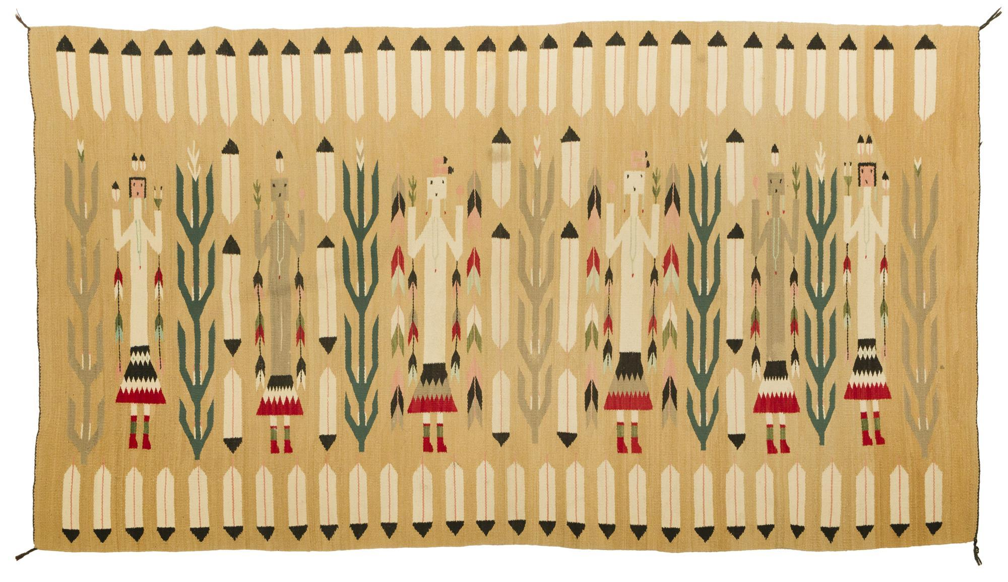 A Navajo Yei pictorial rug