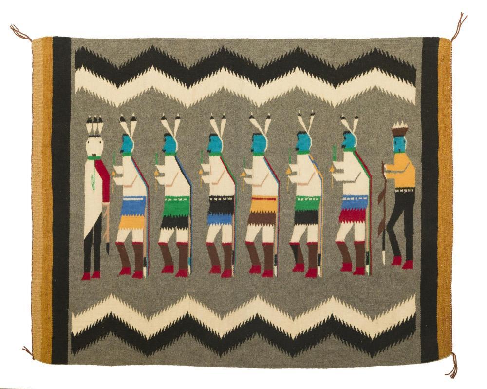 A Navajo Regional Yei rug