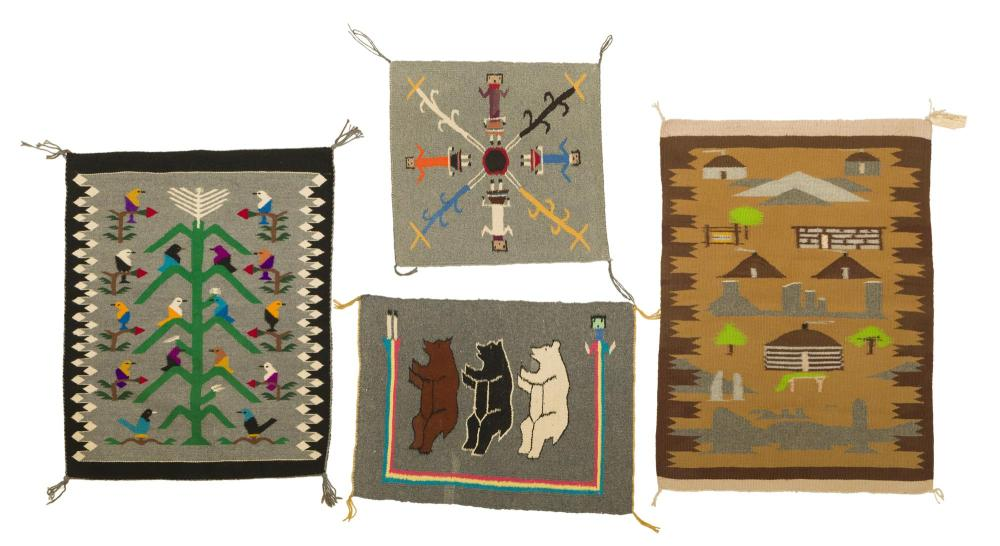 A group of Navajo pictorial rugs