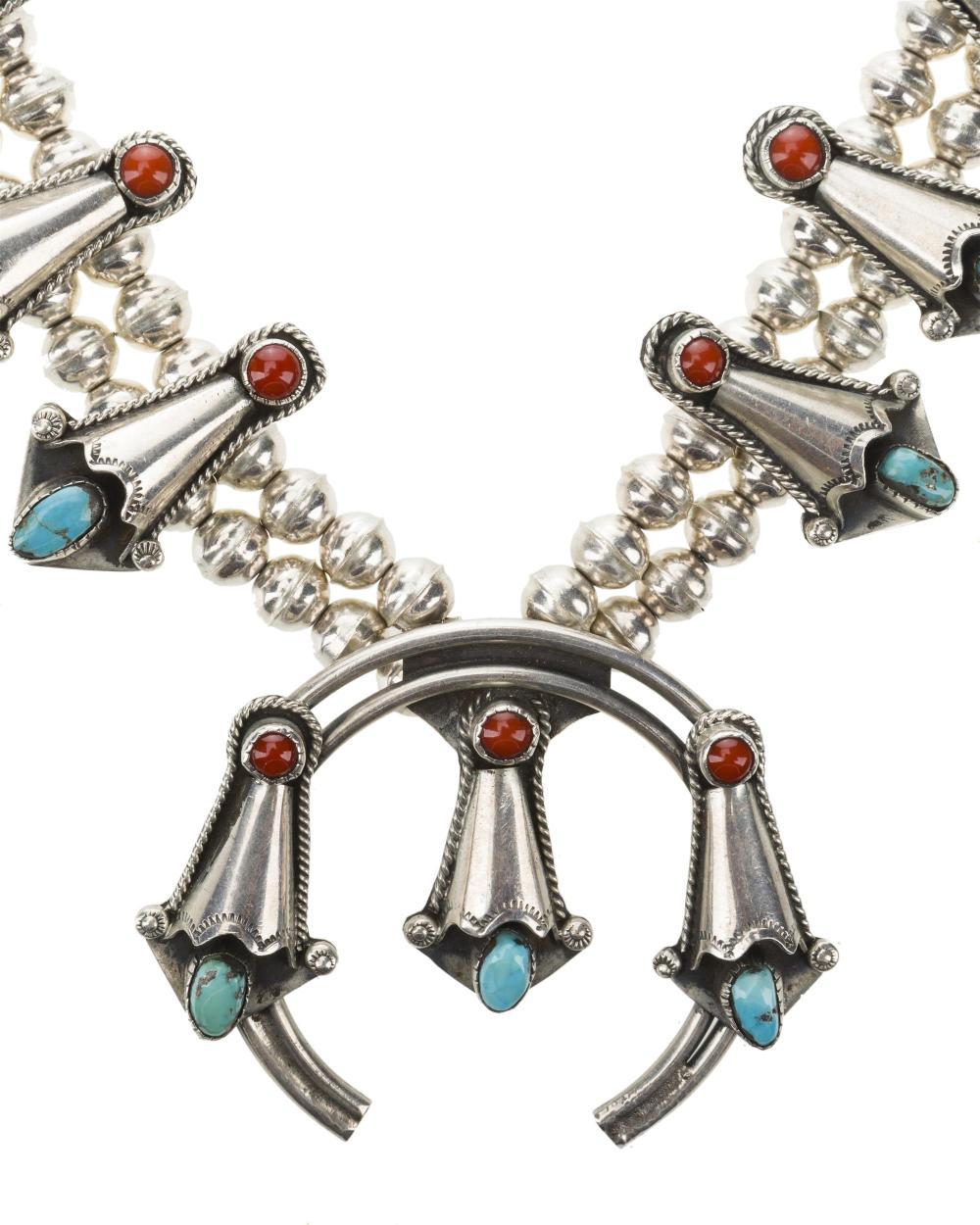 A squash blossom necklace