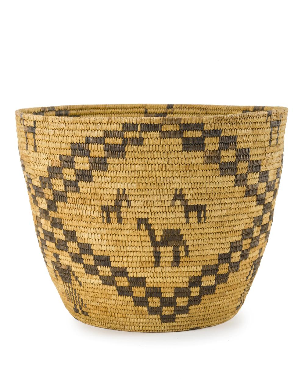 A Papago figural basket