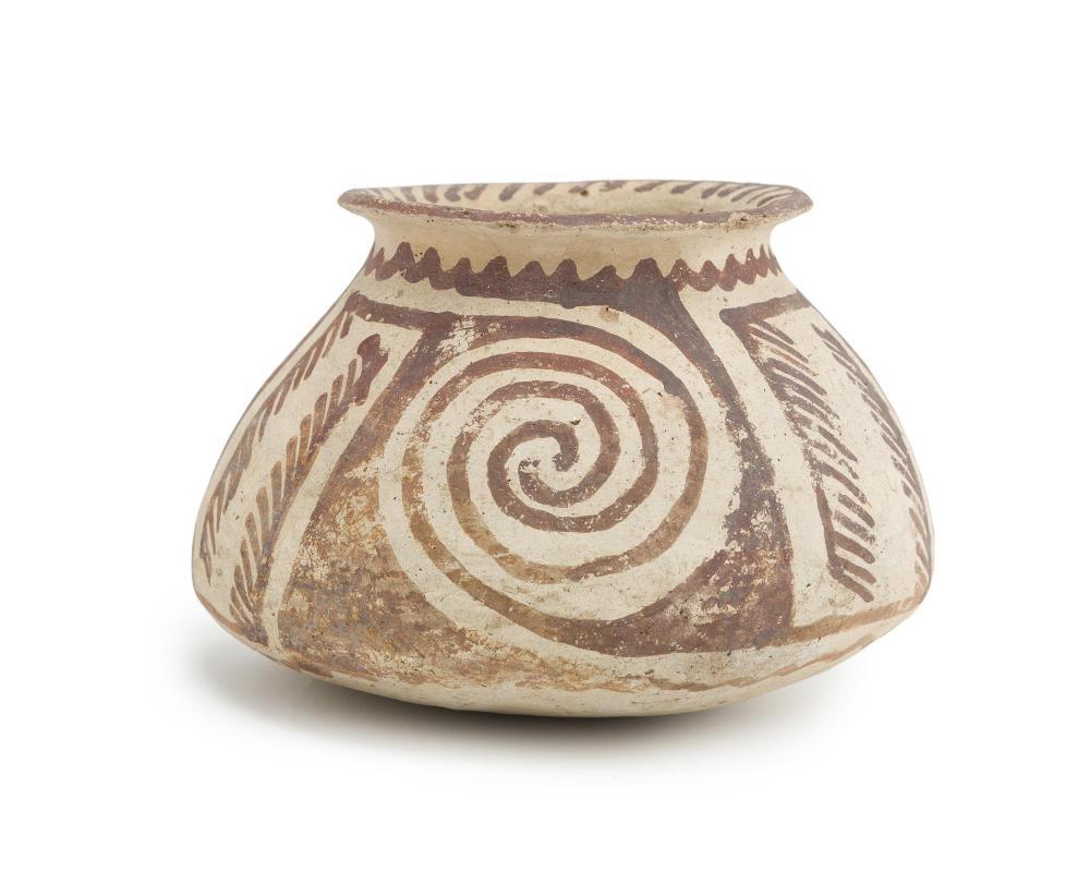 A Hohokum Santa Cruz red-on-buff flared rim vase