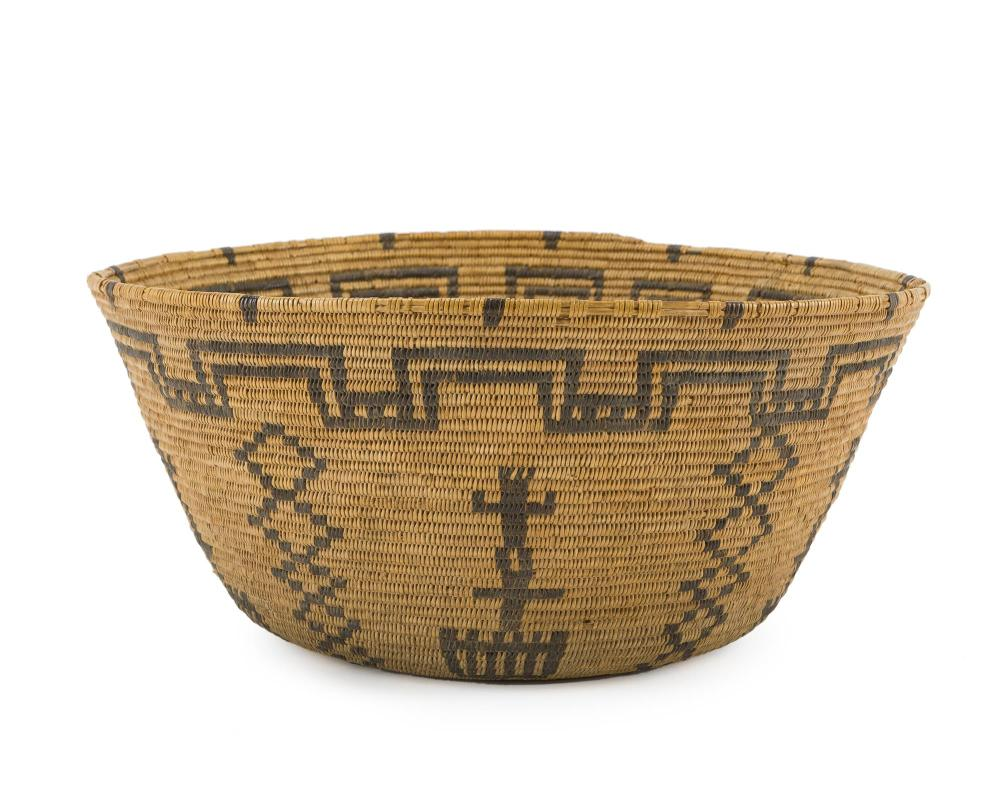 An Apache pictorial basket