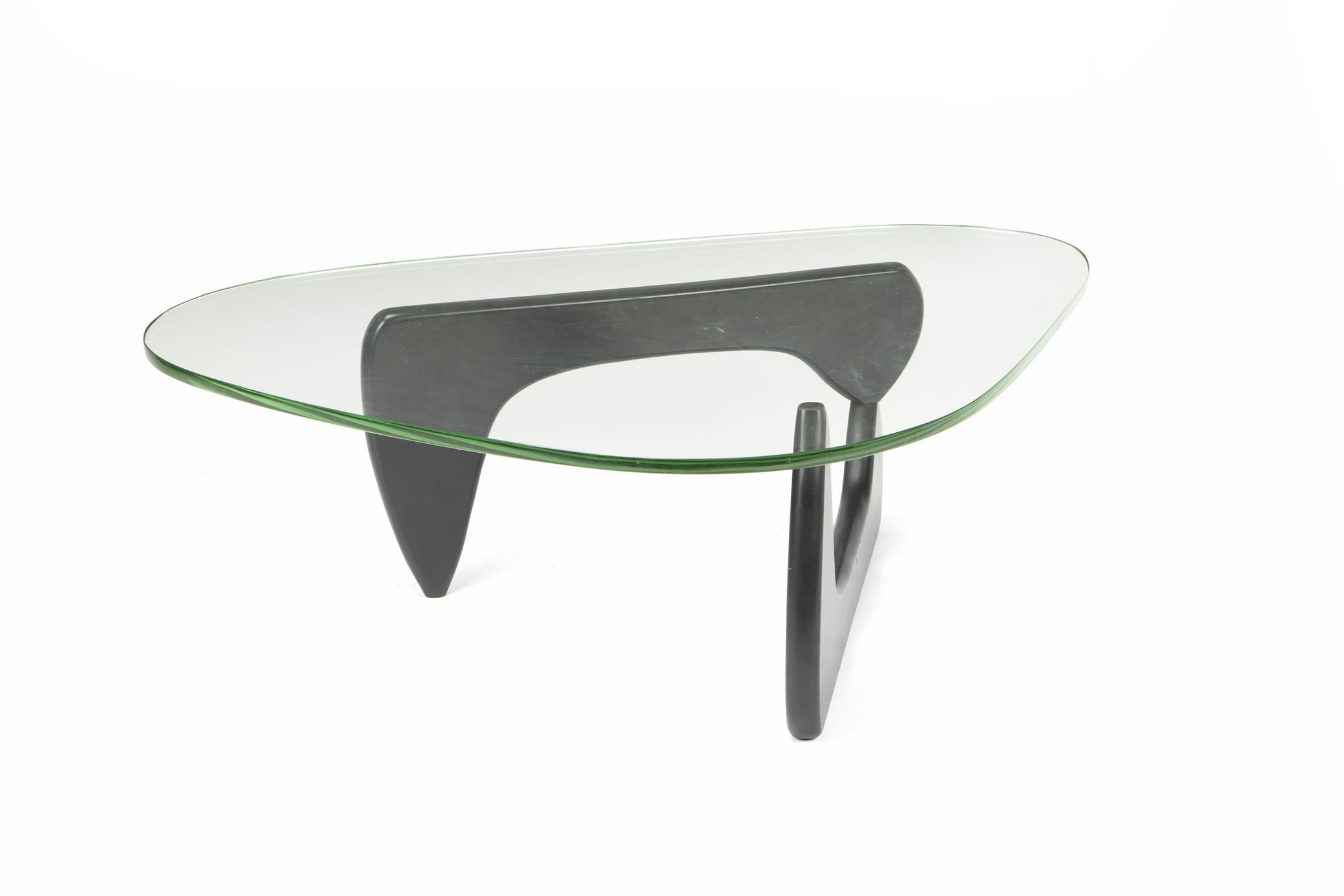 """Isamu Noguchi, (1904-1988, American), Coffee table IN50, Ebonized wood and glass, Overall: 15.75"""" H x 50.5"""" W x 36"""" D"""