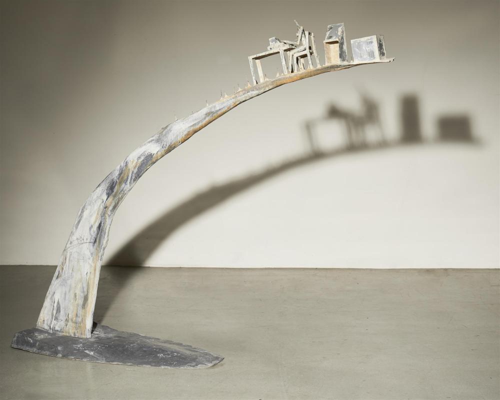 Andrés Nagel, (b. 1947, Spanish), Kaixo Mataos III (Large Arch), 1993, Polyester, fiberglass, zinc, 90