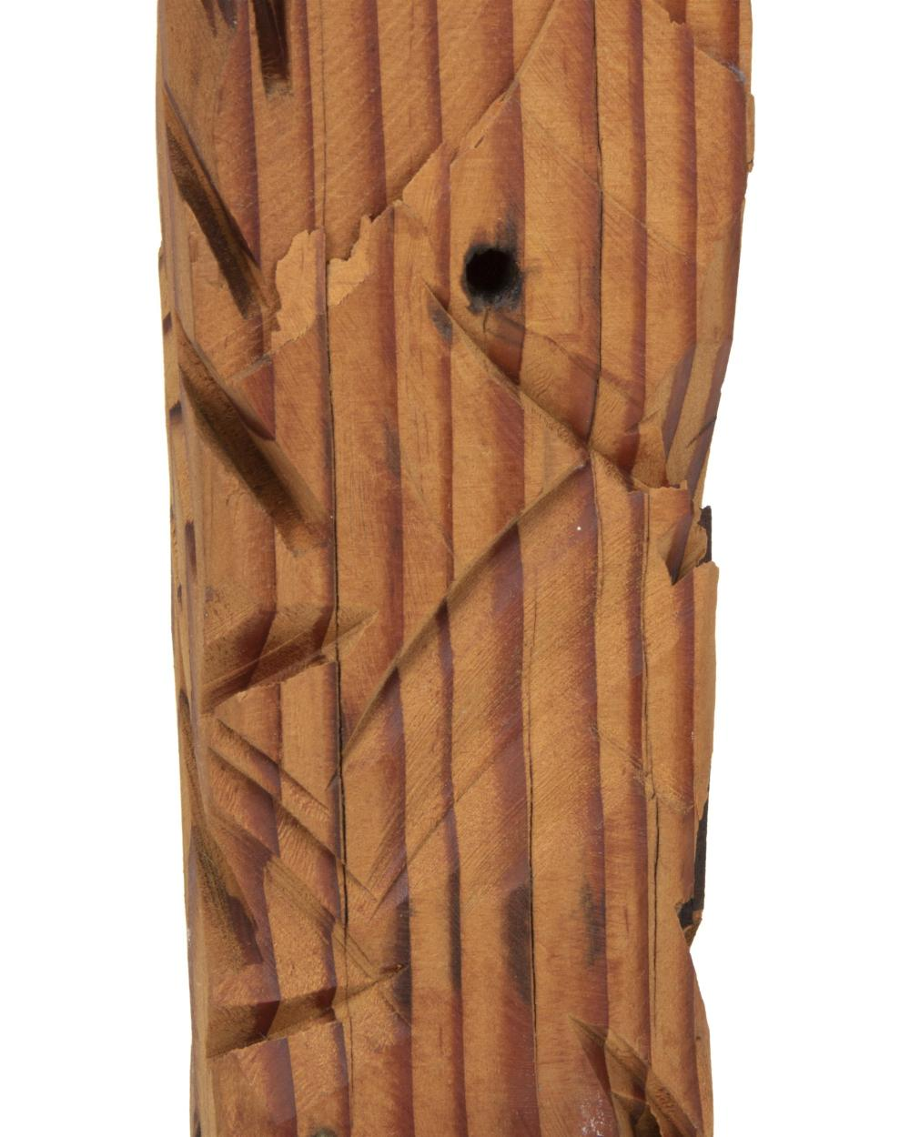 Jim Bess, (20th Century, American), Wooden sculpture, Wood and steel, 79