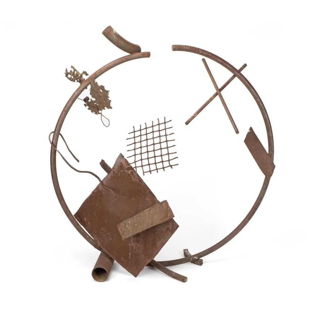 "Michael Todd, (b. 1935, American), Untitled, abstract, Bronze assemblage, 82"" H x 74"" W x 29"" D"