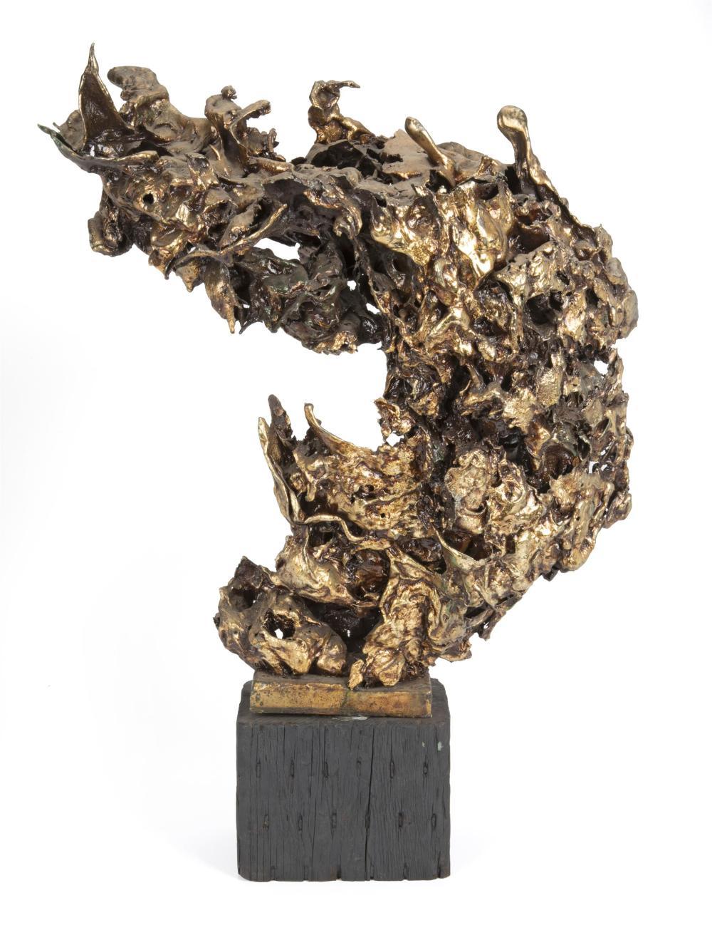 Sascha Brastoff, (1918-1993, American), Freeform sculpture, Mixed media on wood base, Overall: 30