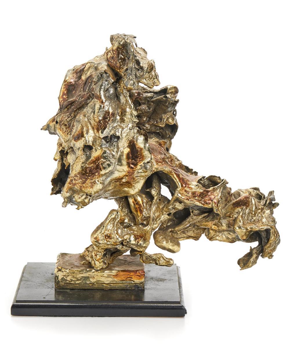 "Sascha Brastoff, (1918-1993, American), Freeform sculpture, Mixed media on wood base, Overall: 13.75"" H x 13"" W x 8.5"" D; Sculpture: 13"