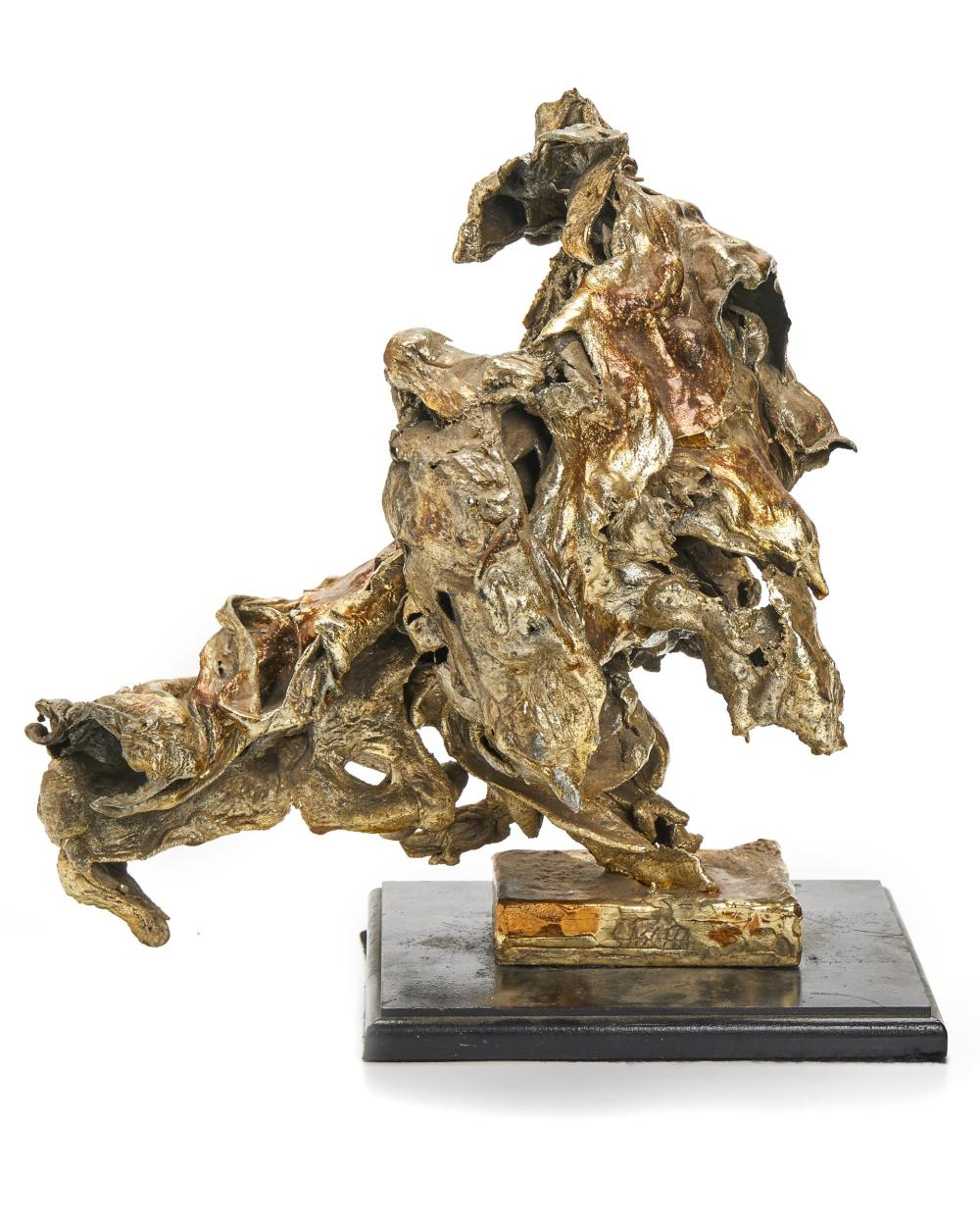 Sascha Brastoff, (1918-1993, American), Freeform sculpture, Mixed media on wood base, Overall: 13.75