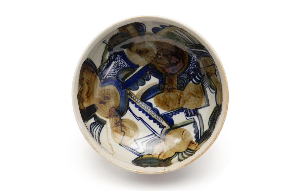 Jim Kaneko, (1923-1999, American), Low center bowl, 1973, Glazed ceramic, 3