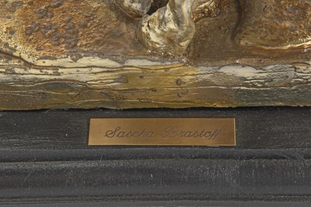 Sascha Brastoff, (1918-1993, American), Untitled freeform, Mixed media on wood base, Overall 12.5