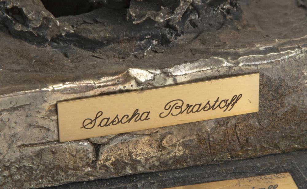 Sascha Brastoff, (1918-1993, American), Untitled freeform, Mixed media on wood base, Overall: 12