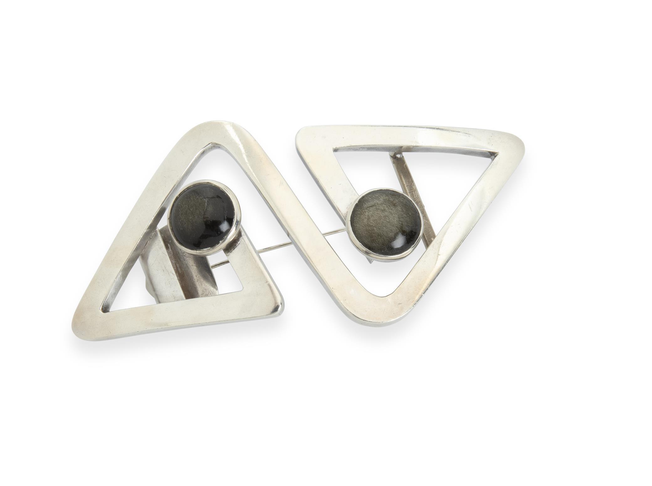 A Sigi Pineda silver brooch