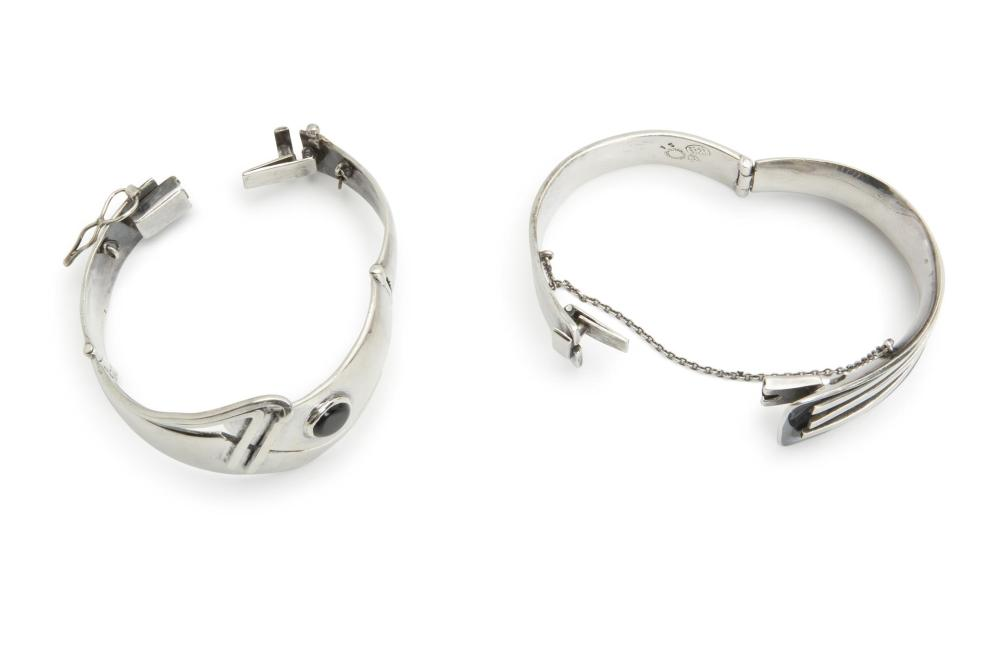 Two Sigi Pineda sterling silver bangle bracelets
