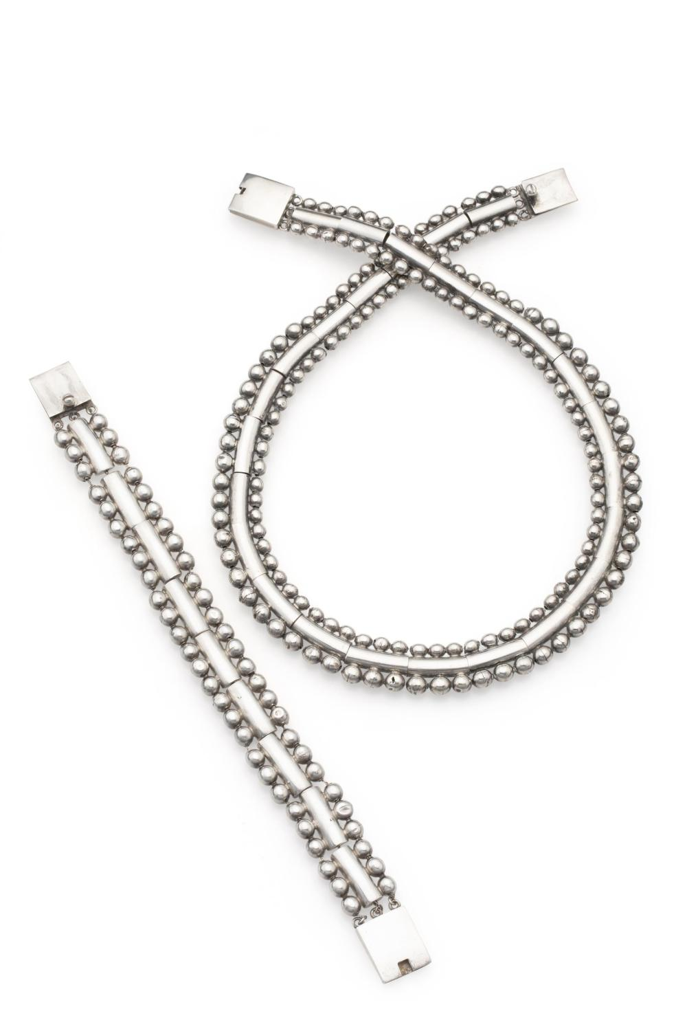 A set of William Spratling sterling silver jewelry