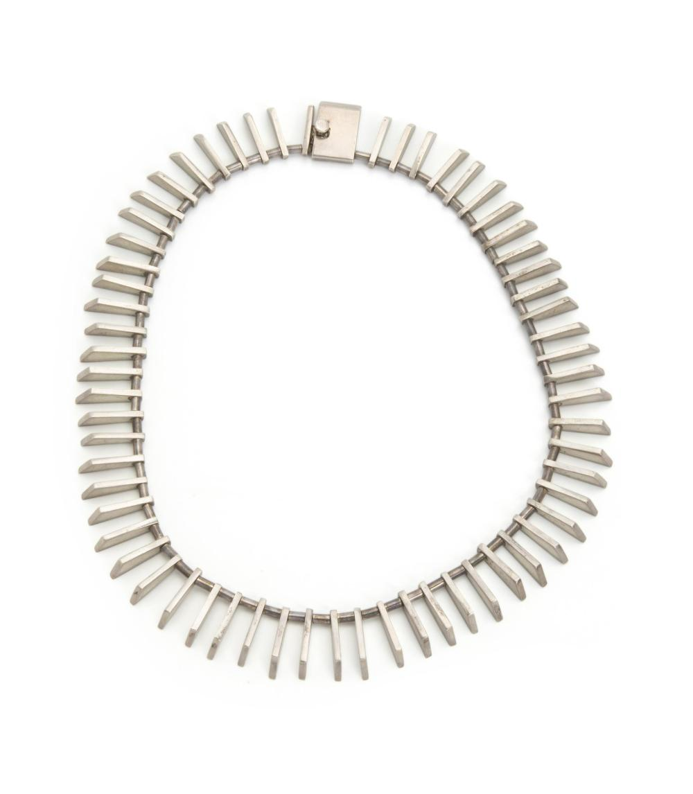 A Modernist sterling silver necklace