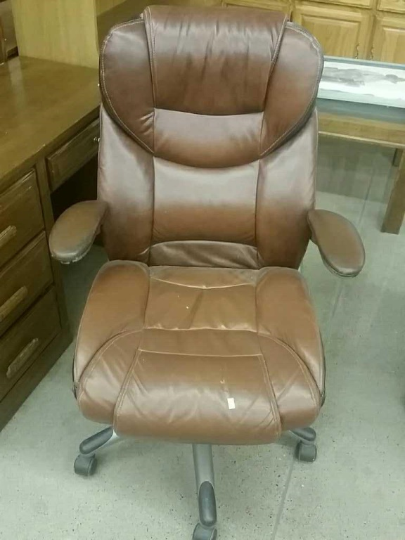 Lot Lane Brown Leather Office Chair