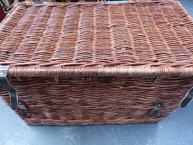 A Large Wicker Laundry Hamper