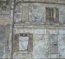 Isamu Hirakawa a sepia tone oil on canvas town