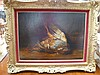Lucy A Leavers oil on canvas depicting game,, Lucy Ann Leavers, Click for value