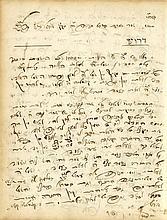 A Collection of Handwritten Sermons. Rabbi Yirmiyahu Loewe, Av Beit Din of Ujhely, 19th Century