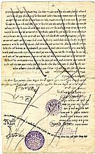 Contract, with the Signature of Rabbi Shmuel Salant and the Rebbe of Lelov Rabbi David Zvi Shlomo. Jerusalem, 1900