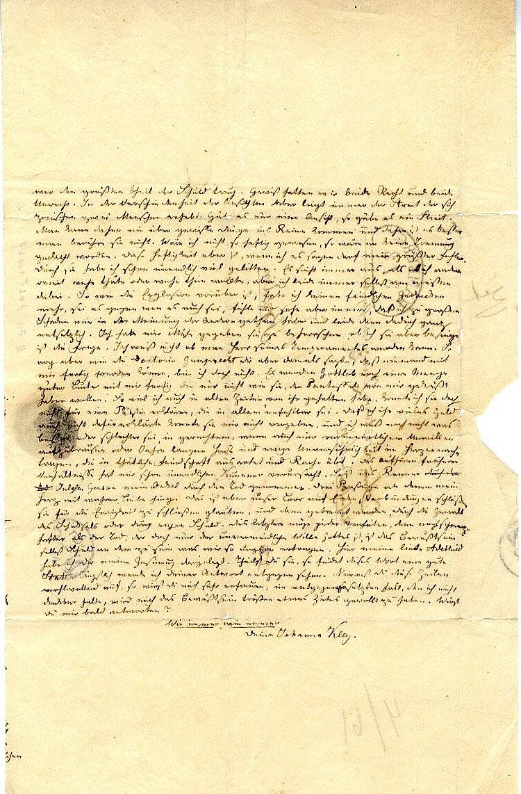 Letter of Reconciliation between two Famous Jewish Women