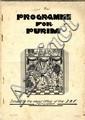 Programme for Purim. Jerusalem, [1931].