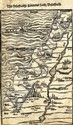 Map of Israel. Stockholm, 1595. Heinrich Bunting.