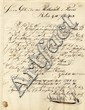 Rothschild. Letter from Berlin to the Parisian Branch of the Rothschild Bank from Jewish Banker Hirschfeld & Wolf. Berlin, 1854. Autograph.