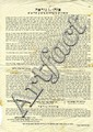 Broadside. 'Strong Admonition' from Lithuanian Leaders. [1911-1930].