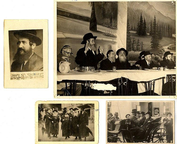 Photos of Famed Admors and Rabbis. 20th Century