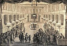 London Synagogue. Illustration of the Interior. Engraving. The Jewish Synagogue. C. 1732