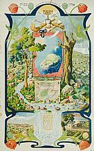 Yahrzeit page. Alon bachut. Germany, beginning of the 20th Century