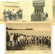 3 Photographs. Motorcycle Trip. Children in Degania. Palestine, 1920-30