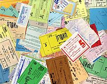 Collection of [75] tickets to performances and Theatres. Israel- the 70-90 years