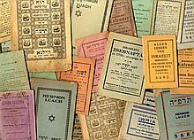 Collection of [21] Jewish calendars. 19th-first half of the 20th century