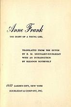 Diary of Anne Frank. Two first editions. English and Yiddish