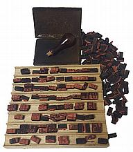 Rubber stamps of Hebrew letters. 20th century.