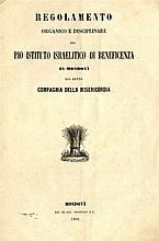 Bylaws of the Mondovi community, Regolamento. Italy, 1866