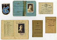 Collection of items from Etzel activist, Meir Cohen, from the Palestine era