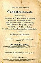 Gedachtnissrede. Breslau. 1872