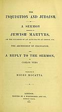 The Inquisition and Judaism. London, 1845. First Edition in English