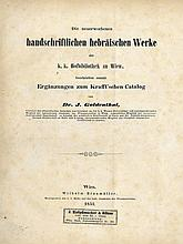 Catalogue of Hebrew Manuscripts in the Royal Library of Vienna. Vienna, 1851